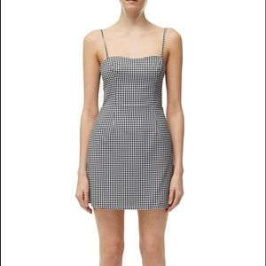 French Connection WHISPER GINGHAM TIE BACK DRESS